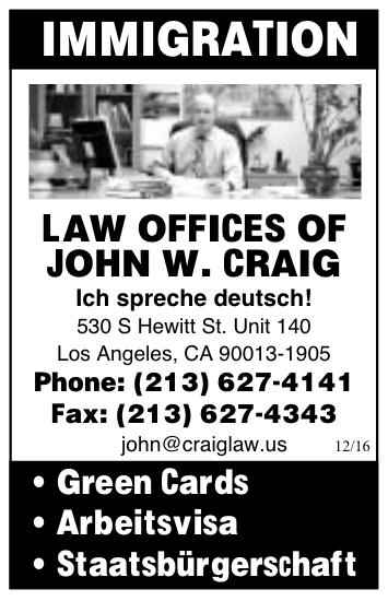Neue Presse USA John W. Craig